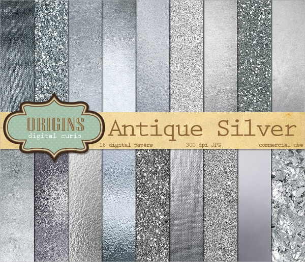 silver textured digital paper