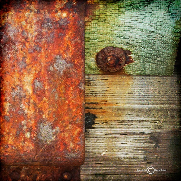 Red Green Gray Wood Metal Texture