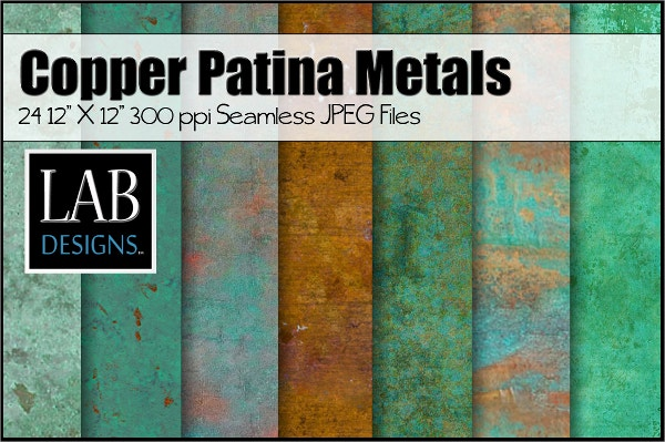 24 copper patina metal textures