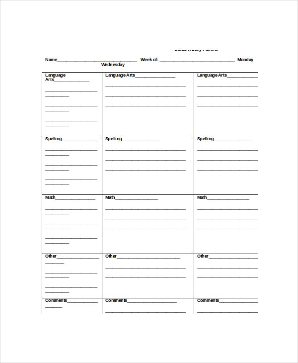 Daily Planner Template   Free Word Pdf Documents Download