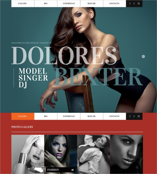 Personal Page Singer Website Template $67