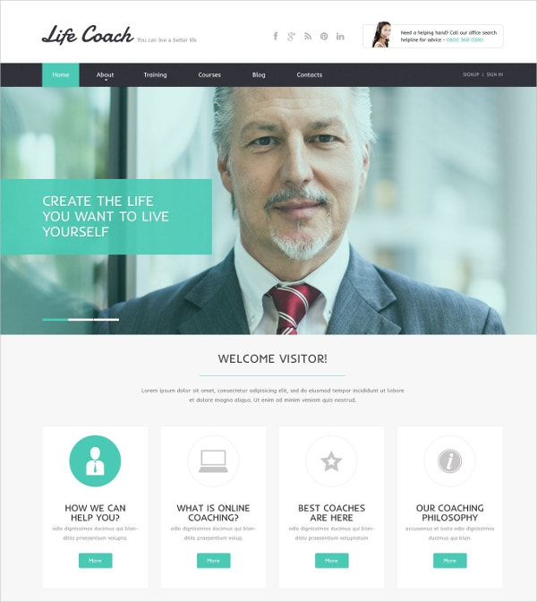 creative personal website template 69