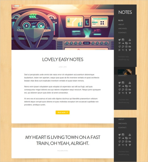 Simple Personal WordPress Website Theme $39