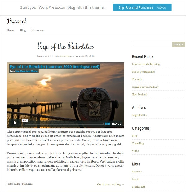 Journalist Personal Website Theme