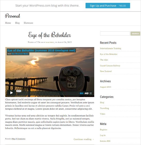 Journalist Personal Website Theme