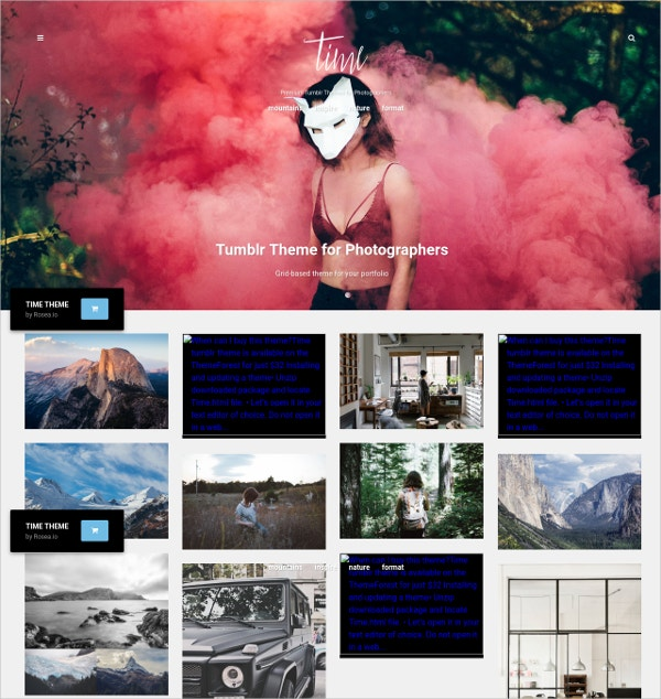 photography portfolio grid tumblr theme 32