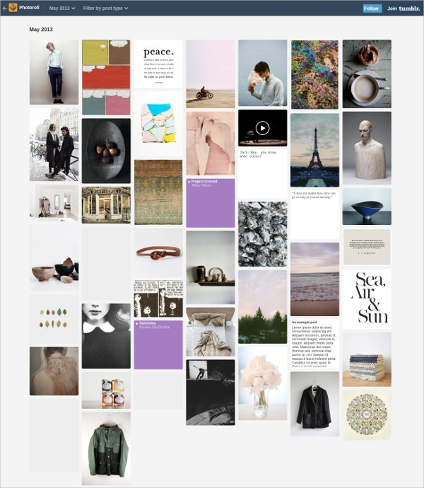 Beautiful Photography Tumblr Theme