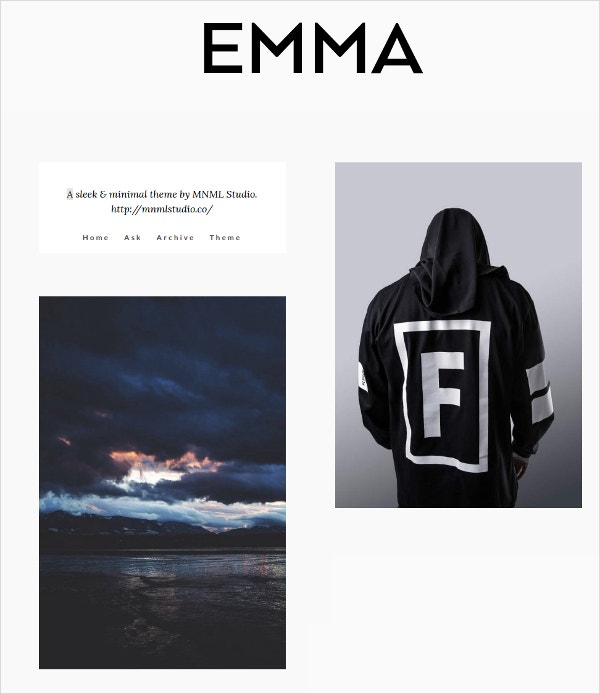 Responsive Photo Blogger Tumblr Theme