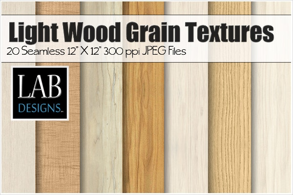 20 Light Wood Grain Texture Designs