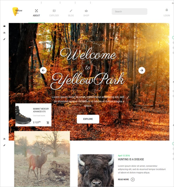 Blog Social Network Bootstrap Template $15