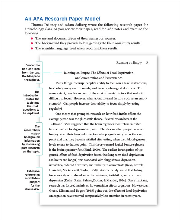 Example of apa style research paper
