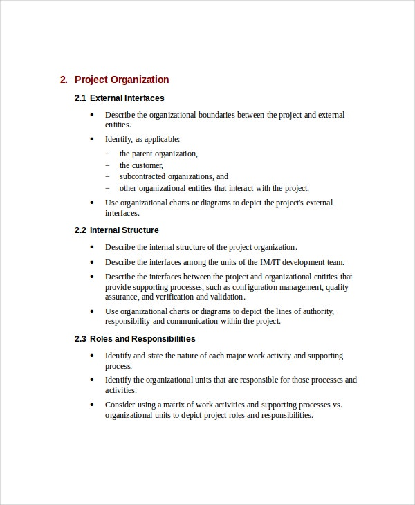 IT Project Plan Template