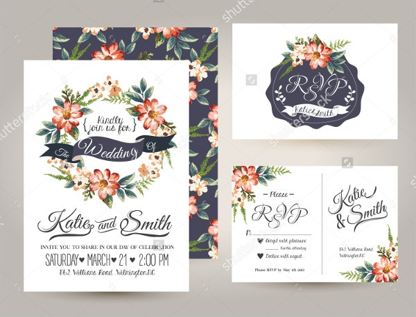 Printable Wedding Invitation Card Template