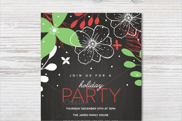 Printable Holiday Party Invitation Template
