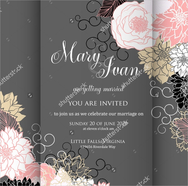 Printable Wedding Card Invitation Template