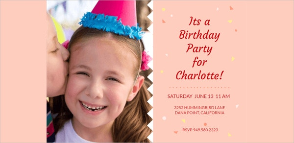 Printable Birthday Invitation Template Design