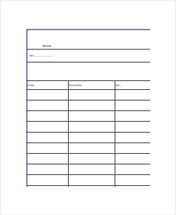 Word Diary Template - 5+ Free Word Documents Download | Free ...