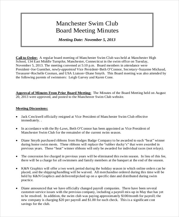 meeting minutes template 10 free word pdf document downloads