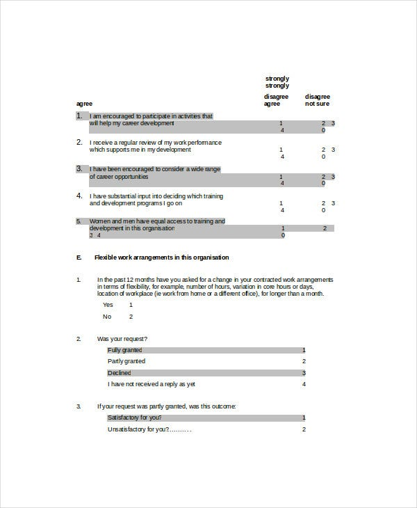 employee survey template