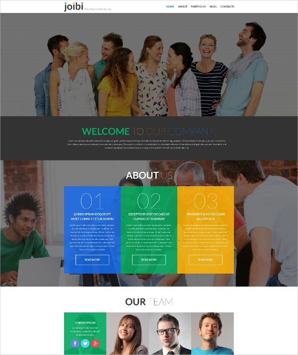 Business Services One Page Parallax WordPress Theme $75
