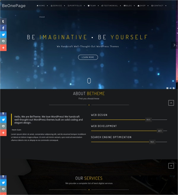 Amazing Business One Page Parallax WordPress Theme
