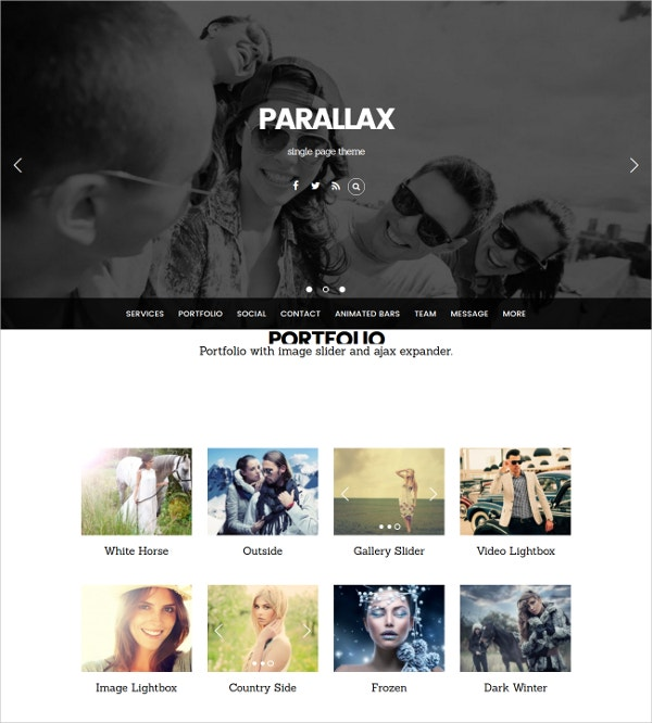 One Page Parallax Scrolling WP Theme