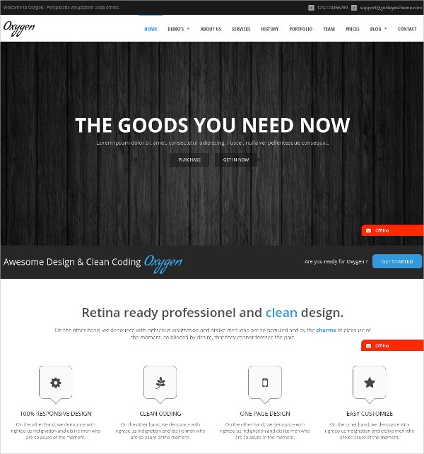 Photography One Page Parallax WordPress Theme $49