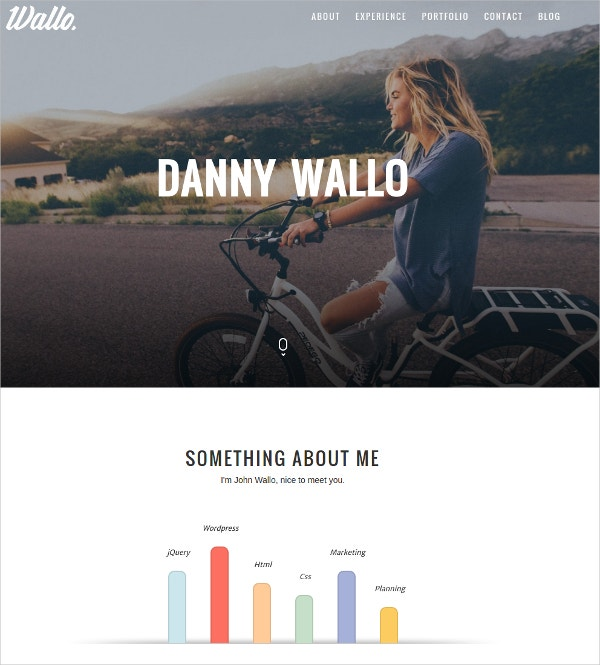 Professional Parallax Onepage WordPress Theme $25