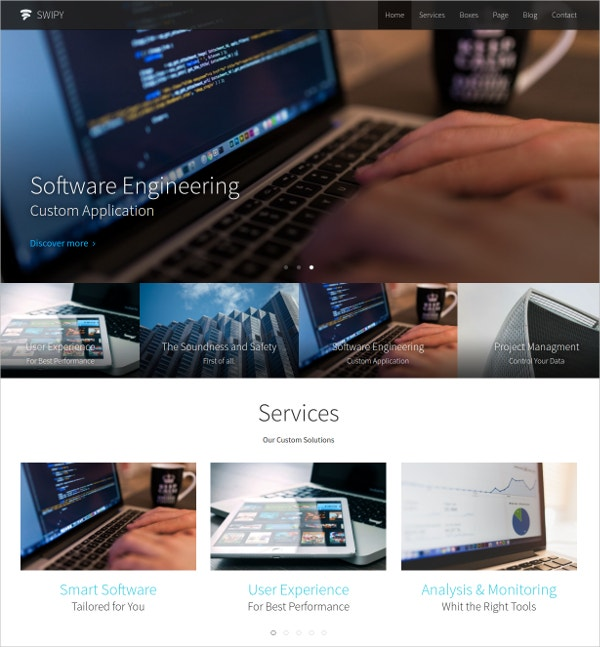 Business & Corporate One Page Parallax WP Theme