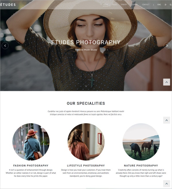 Grid Photo Gallery Bootstrap Template $19