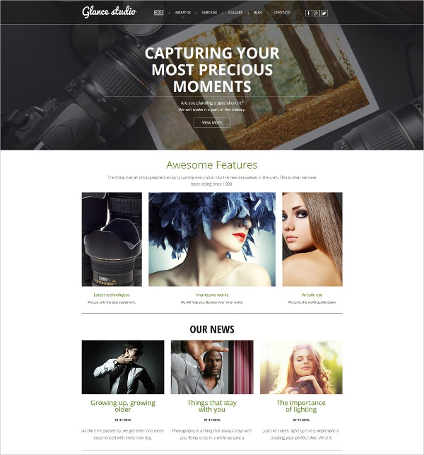 Bootstrap Premium Photo Gallery Template $139