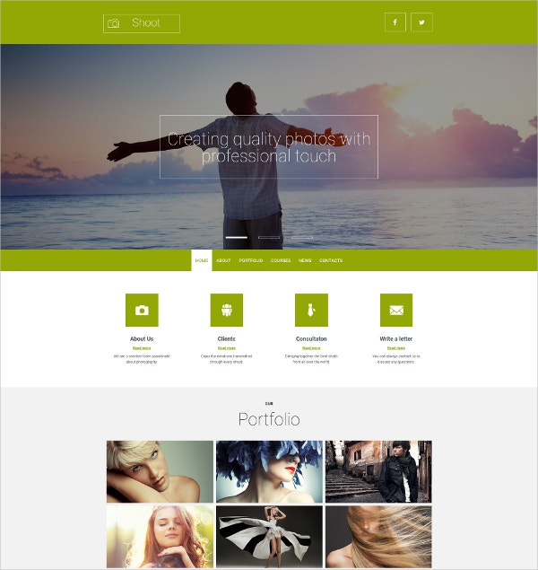 Bootstrap Portfolio Responsive Photo Gallery Template $139