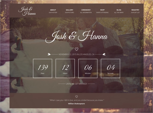Engagement Photo Gallery Bootstrap Theme $15