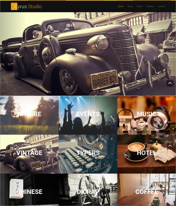 Premium Photo Gallery Bootstrap Theme $13