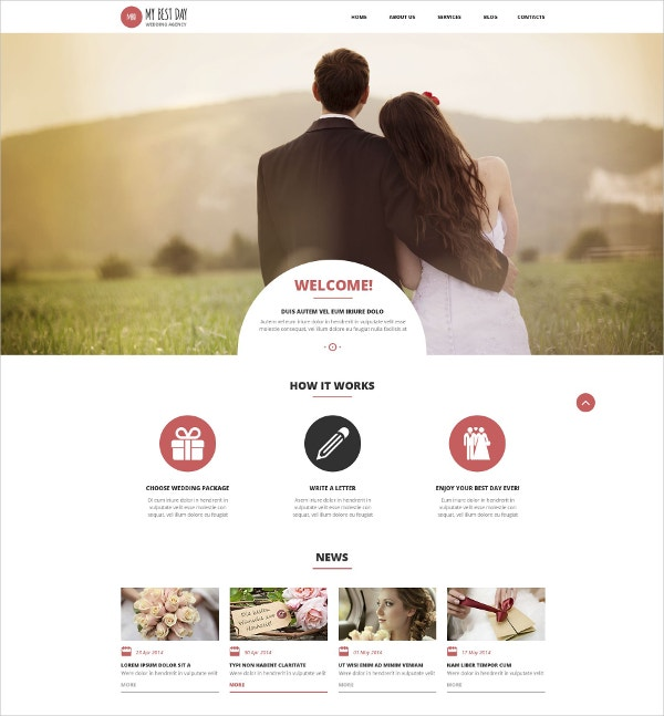 wedding planning consultancy wordpress website theme 75
