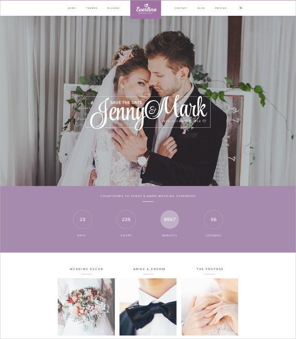 couple wedding joomla website template 53