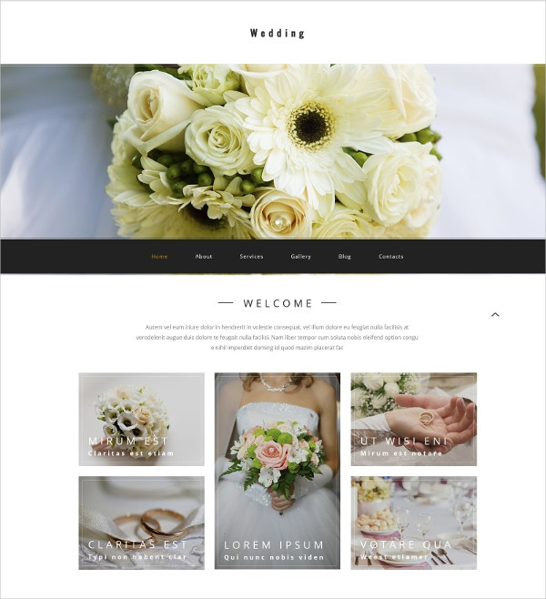 Wedding Agency WordPress Website Theme $75
