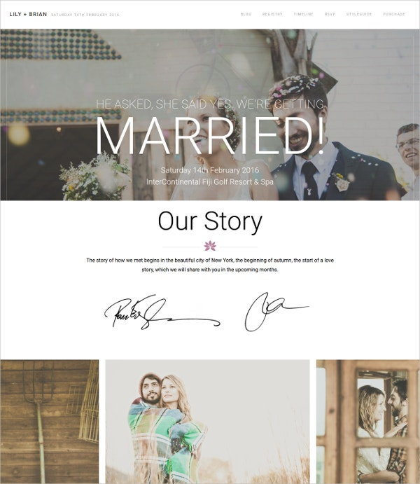 Best WordPress Wedding Website Theme $49