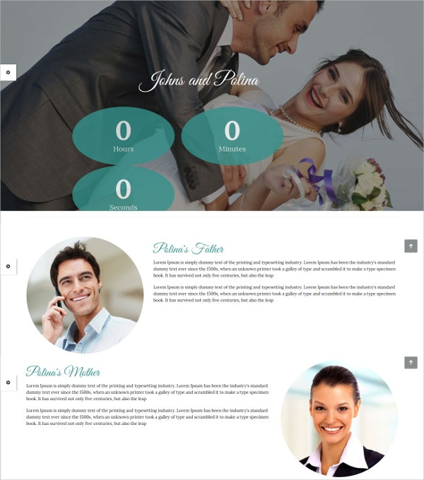 Responsive Wedding Portfolio Website Theme $12