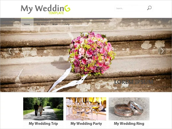 free wedding party wordpress website theme
