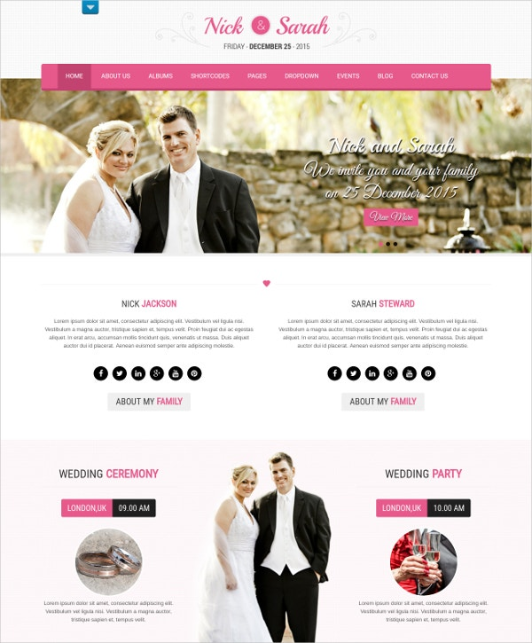 Find Premium Professional Wedding WordPress Theme
