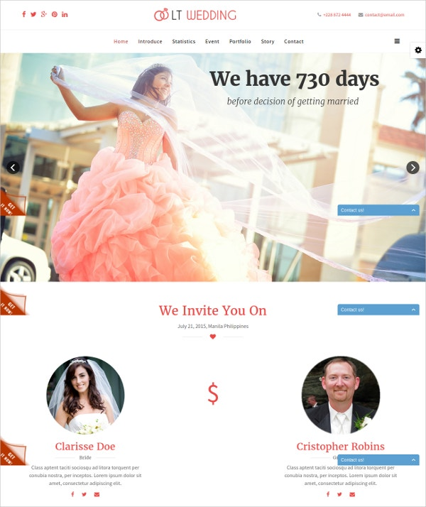 wedding free responsive wedding joomla website template