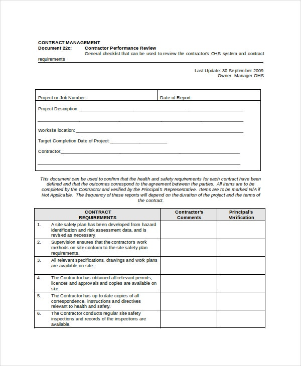 Performance review template 11 free word pdf documents for Performance review template doc