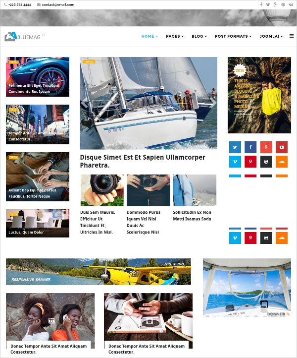 Magazine Blogging Joomla Theme $48