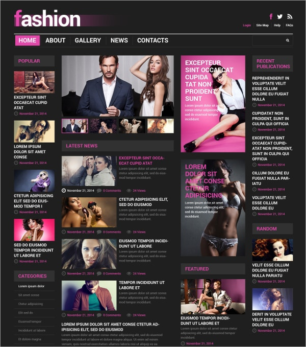 Responsive Fashion Blog News Joomla Template $75