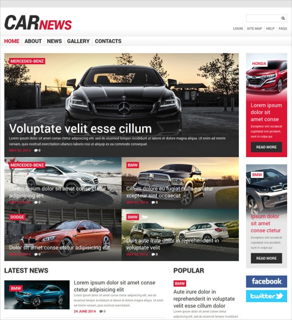 Car News Joomla Template $75