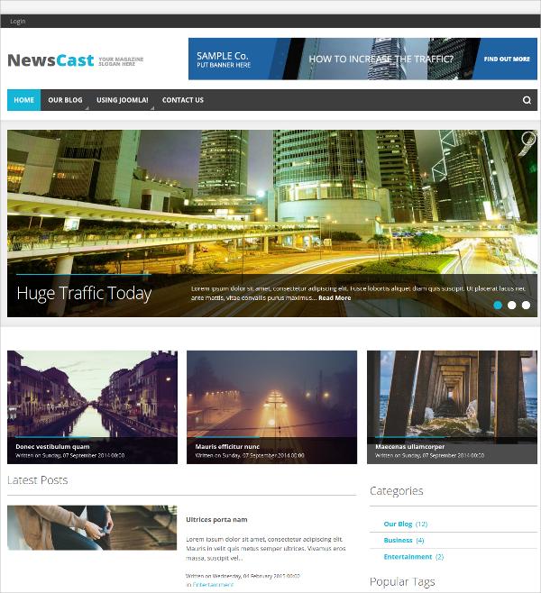 News Portal & Magazine Joomla Template $39