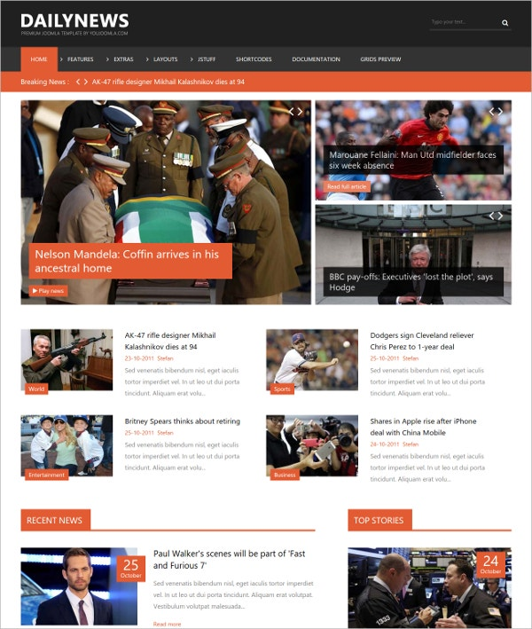 amazing news joomla template