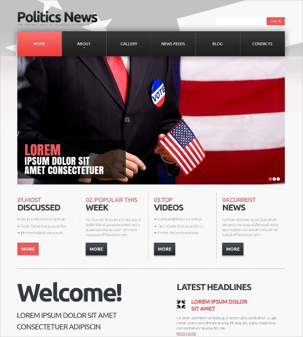 Political News Joomla Template $75