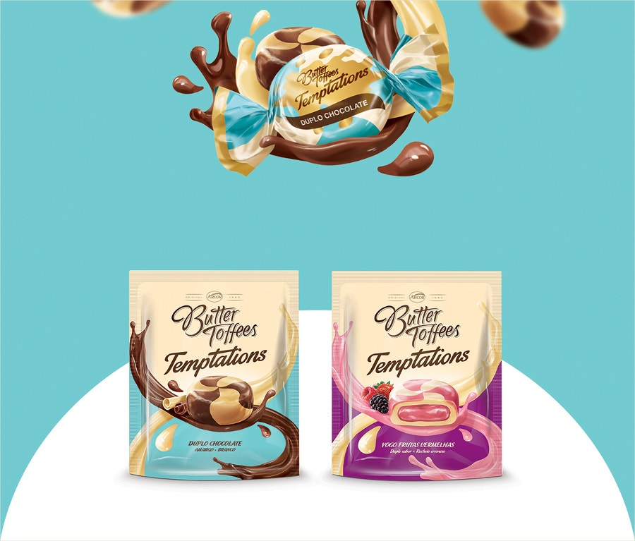 Creative Butter Toffees Packaging Design
